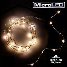 Catena luminosa 120 micro led a batteria - luce fissa - cavo metal  http://www.lucinatalizie.it