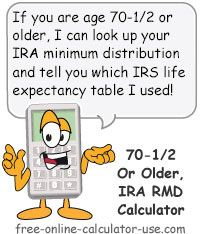 HttpRmdcalculatorNet Use Irs Rmd Calculator To Plan Your