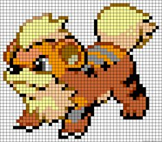 Growlithe - Pokemon perler bead pattern