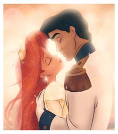 • disney romance princess the little mermaid ariel fan art marriage Disney Princess prince eric likeadisneyprincess •