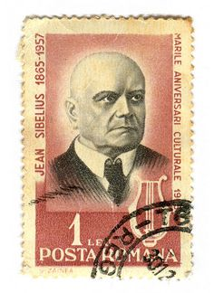 1965 part of the Culture series. Stamp depicts Finnish composer Jean Sibelius Designed by S. Old Stamps, Vintage Stamps, Classical Music Composers, Popular Hobbies, Postage Stamp Art, Stamp Collecting, My Stamp, Poster, Conductors