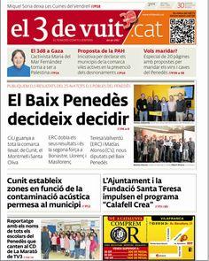 Portada d'El 3 de vuit del 30 de novembre del 2012 - Baix Penedès