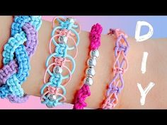 DIY friendship bracelets! 4 EASY stackable arm candy projects!. Giveaway is now closed! WINNER: alisha Siraj (I will contact you shortly) Hey guys! As most of you really liked my past bracelet tutorials , in today's video I will show you how to make