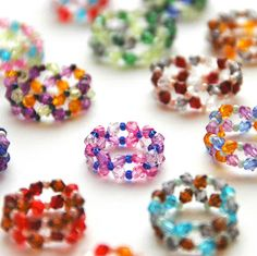 Rings made from small beads