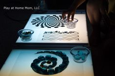 "Exploring Spacial Patterns on the Light Panel from Play At Home Mom ("",)"