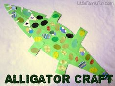 "The boys and I made this awesome alligator craft together to go along with the book we read: ""Trosclair and the Alligator,""  by Peter..."