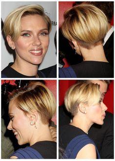 How To Get Scarlett Johansson Undercut Hairstyle - Promi Frisuren 2018 - Pixie Undercut Hair, Undercut Hairstyles, Pixie Hairstyles, Pixie Haircut, Short Undercut, Short Haircuts, Hairstyles 2016, Scarlett Johansson Hairstyle, Hair Dos