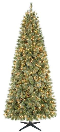 slim cashmere christmas tree | Country Living 7.5ft Harrison Cashmere Slim Christmas Tree with Clear