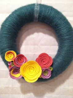 10 Yarn Wreath handmade by SweetCello on Etsy, $32.00