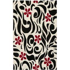 Safavieh Soho Kate Wool Area Rug, Ivory/Black, White