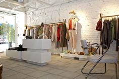 קיר חשוף ברחובות comme-il-faut Tel Aviv, Visual Merchandising, Wardrobe Rack, Spaces, Furniture, Color, Home Decor, Fashion, Colour