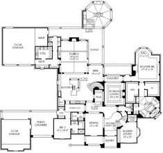 A 4 Bedroom, 7 Bath English Country House Plan. Ask us about customization!