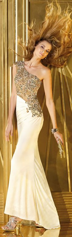 Alyce One Shoulder #Prom #Gown