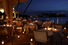 Nothing like a romantic dinner at the Terrace Restaurant at Rendezvous http://www.theromanticholiday.com