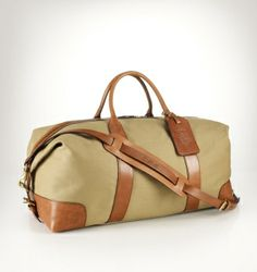 For the jet-setting dad, our canvas-and-leather weekender is a thoughtful Father's Day gift. http://rlauren.co/fathersday2014