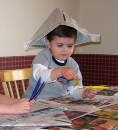 Pirate Newspaper Party Hats