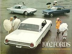 https://flic.kr/p/7MrZfy | The 1962 Fords | Cover of the full line USA folder, opens to a poster. From my collection of auto sales brochures that I have been building since the mid-seventies.