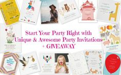 Start Your Party Right with Unique and Awesome Party Invitations + #GIVEAWAY via @beautybymissl