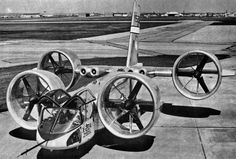 Continuing into the the 1960s, Bell VTOL X-22 looked promising (being perhaps the grandfather of the Bell- Boeing V-22 Osprey).
