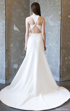 Bridesmaid dresses romona keveza spring 2018 bridal sleeveless jewel neck a line wedding dress bv clean keyhole modern sweep train -- Romona Keveza Collection Spring 2018 Wedding Dresses Couture Wedding Gowns, Dream Wedding Dresses, Bridal Gowns, Romona Keveza, Groom Outfit, Gowns Of Elegance, Bridal Collection, Bridal Style, Marie