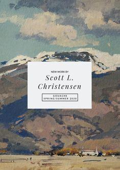 Scott L. Christensen, Gouache Collection Spring/Summer 2020 Gouache, New Work, Spring Summer, Artist, Collection, Artists