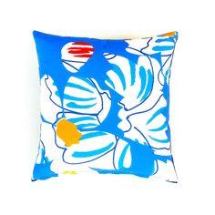 Marimekko Abstract BlueWhite  Pillow / Cushion  by OnHighat5