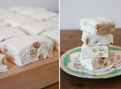 Modern day nougat has come to us from France (thank you, French confectioners), although some historians think it actually dates back to the… Yummy Treats, Delicious Desserts, Sweet Treats, Candy Recipes, Sweet Recipes, Kos, Yummy Things To Bake, Homemade Sweets, Homemade Candies