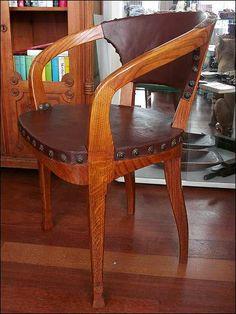 Schreibtischstuhl Bauhaussessel 20er Jahre Armlehnstuhl, Herrenzimmer- Stuhl