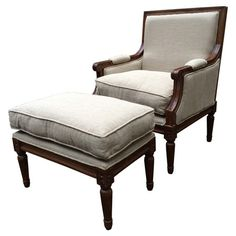 2-Piece Therese Armchair & Footstool Set