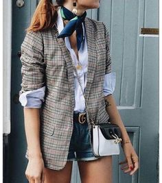 Plaid Blazer / Fall street style fashion #plaidblazer #fashionweek #fashion #womensfashion #streetstyle #ootd #style / Pinterest: @fromluxewithlove