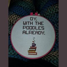 Gilmore Girls inspired Cross Stitch Oy by HappyHookingBoutique
