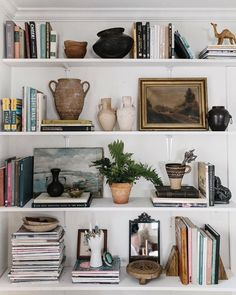 These shelves are ever changing. It's full of memories, knickknacks, books I treasure, and a lot more. But most of all, I treasure this… bookshelf decor My New Room, Home Decor Inspiration, Decor Ideas, Home And Living, Living Room, Interior Decorating, Sweet Home, Room Decor, House Design
