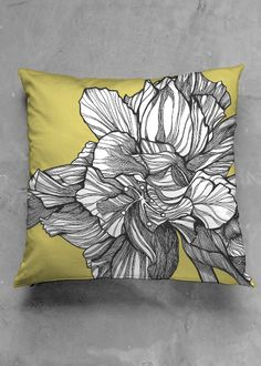 HYBRID HIBISCUS PILLOW : CHARTREUSE