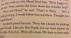 Annabeth and Frank talking about how awesome Percy is.