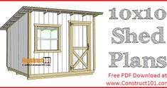 Free shed plans include gable, gambrel, lean to, small and big sheds. These sheds can be used for storage or in the garden. Free how to build a shed guide. Shed Plans 12x16, Lean To Shed Plans, Diy Shed Plans, Coop Plans, The Plan, How To Plan, Workbench Plans Diy, Woodworking Bench Plans, Sawhorse Plans
