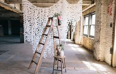Could be very pretty as ceremony backdrop with string lights -DIY Wedding Decorations