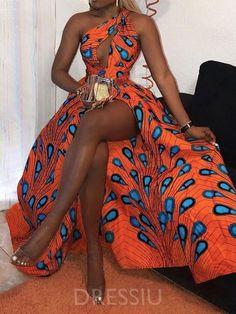 Print Sleeveless Floor-Length Western Standard-Waist Dress