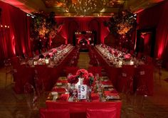 A stunning red room.  Spend money for good lighting. It's worth it.