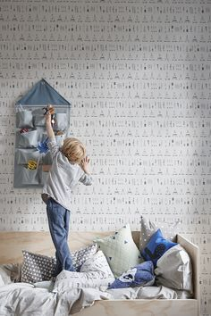 Ferm Living house wall storage blue | Is To Me