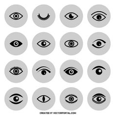 Vector pack of eye icons.