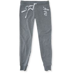 Aero Jogger Sweatpants ($10) ❤ liked on Polyvore featuring activewear, activewear pants, bottoms, med heather grey, slim fit sweat pants, aeropostale sweatpants, aéropostale, slim sweatpants and sweat pants
