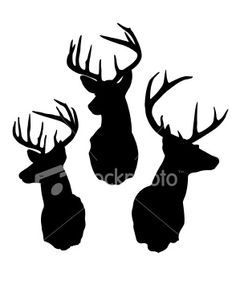 Items similar to Three Deer Buck Heads Wall Decal Vinyl Wall Decals Wall Decor Vinyl Signage Wall Stickers Wall Quotes Deer Hunting Decals Deer Wall Decals on Etsy Hirsch Silhouette, Deer Head Silhouette, Hirsch Design, Accessoires Photobooth, Hunting Decal, Deer Hunting, Wall Tattoo, Deer Tattoo, Reno