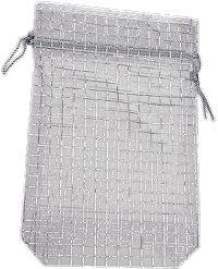 6 x 9 Organza Bags Sheer Silver Metallic Organza Bags, Wedding Favors, Metallic, Silver, Prints, Color, Wedding Keepsakes, Colour, Favors
