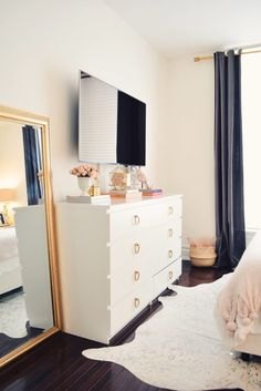 home decor bedroom Spring Bedroom Decor, floral pillows Apartment Bedroom Decor, Tv In Bedroom, Bedroom Dressers, Bedroom Ideas, Bed Room, Floral Bedroom Decor, Adult Bedroom Decor, Master Bedroom, Bedroom Setup