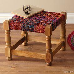 Furniture - Bright Charpoy Stool