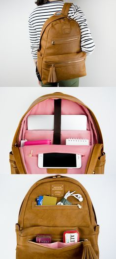 This luxurious Monopoly Leather Backpack is the kind of backpack I'd want to carry everyday! With modern and clean design, and lot of pockets to fit all my items including my laptop, I'd never leave anywhere without it!