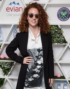 Looking ACE: Pop princess Jess Glynne tucked into good old-fashioned fish and chips in the Wimbledon Evian Live Young suite before the match 5 July 2016