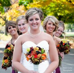 A perfect fall day! Bouquets