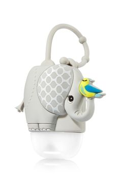 Elephant - Light-Up PocketBac Holder - Bath & Body Works - Team up against germs with this sweet little elephant and her birdie friend! Adjustable strap attaches to your backpack, purse and more so you can always keep your favorite PocketBac close at hand. Plus, a bright light blinks with the push of a button for an extra-fun surprise!