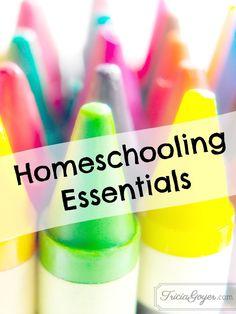 Author and veteran homeschool mom, Tricia Goyer, shares her homeschool essentials.